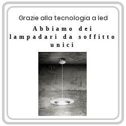 Lampadari per soffitto tecnologia LED in offerta su mpcshop.it