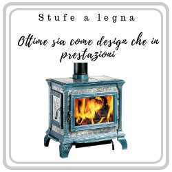 Stufe a legna dal design unico in offerta su mpcshop.it