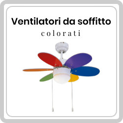 Ventilatori da soffitto colorati