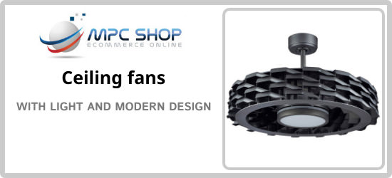 Buy now your ceiling fan with modern style light