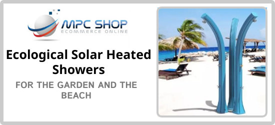 You will always get a great deal buying one of our ecological sun showers for the garden and the beach.