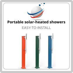 Take immediate advantage of offers for the purchase of one of our easy-to-install portable solar-heated showers