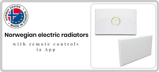 Norwegian electric radiators with remote control via app At the best price on mpcshop.it