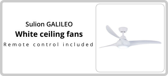 Sulion galileo White ceiling fans included Remote control included Great shopping for cooling large rooms