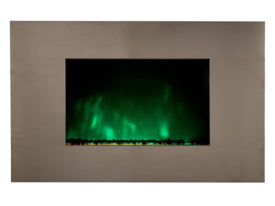 Chemin'Arte Modern wall fireplace Pure Inox is a product on offer at the best price