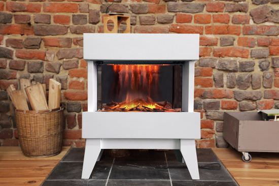 Chemin'Arte White floor fireplace is a product on offer at the best price