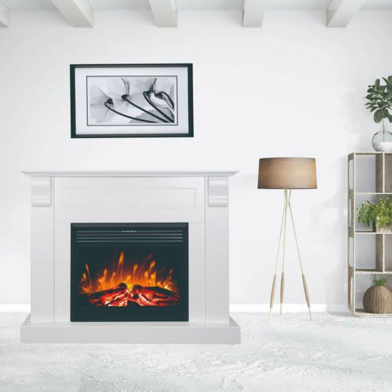 GLOW-FIRE White Chronos Led fireplace is a product on offer at the best price