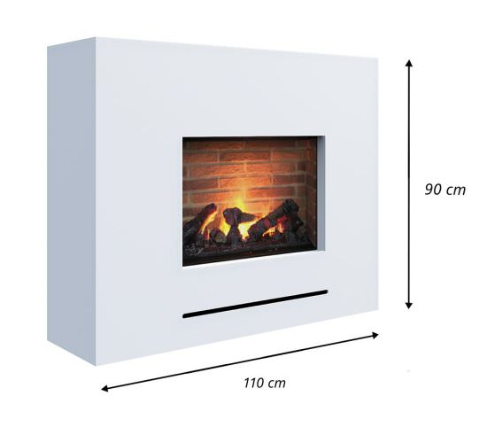 GLOW-FIRE Lessing steam chimney with stone wall is a product on offer at the best price