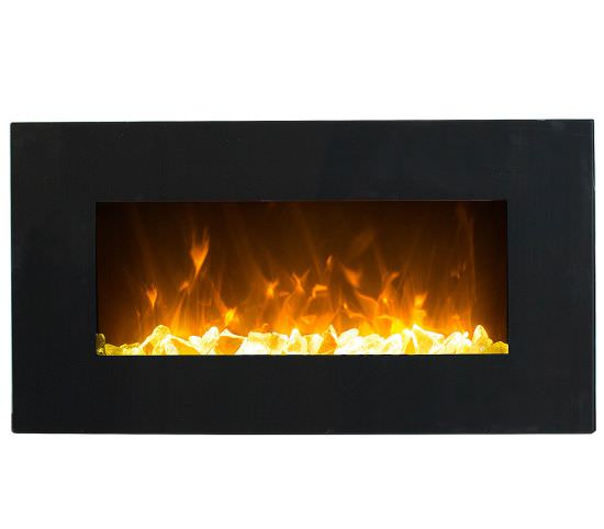 GLOW-FIRE Electric wallmounted Black Led fireplace is a product on offer at the best price