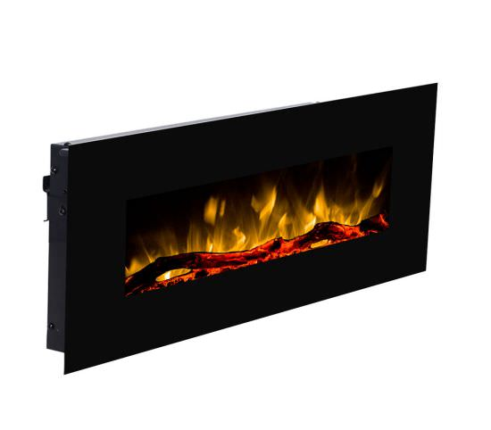 GLOW-FIRE Led Mural Fireplace Pluto Black is a product on offer at the best price