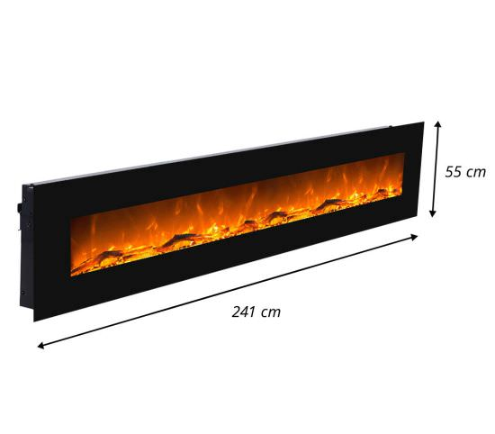 GLOW-FIRE Electric wall fireplace Black Led is a product on offer at the best price