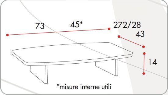 Tavolino per Televisore con Base fissa rialzata Silver