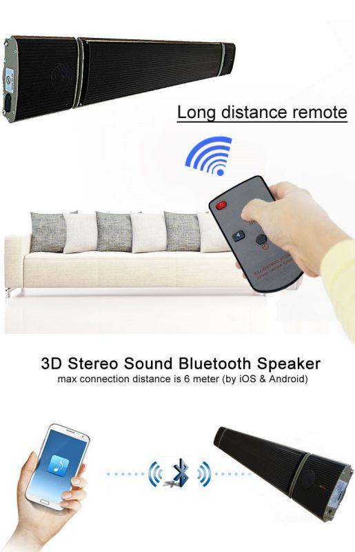Riscaldatore infrarossi con rivestimento nanotecnologico 1800w con audio bluetooth gestito da iphone