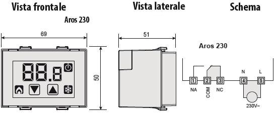 Termostato touchscreen vemer ve459400 for Termostato touchscreen gsm vimar 02906