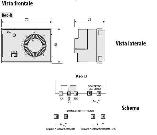 Keob termost incasso batteria vn170700 for Termostato touchscreen gsm vimar 02906