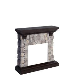 fireplace frame Grey rock model Reino