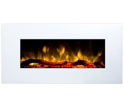 White Led wallmounted electric fireplace