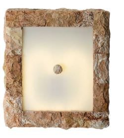 Stone Covered Ceiling Light Pink