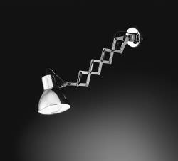 Wall sconce with adjustable spring