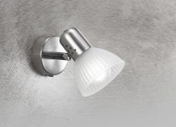 Single spotlight lamp with switch