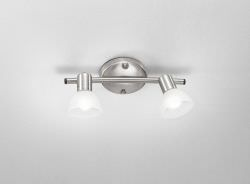 Spot lamp with 2 chrome spotlights