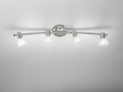 Spot lamp with 4 wall spotlights