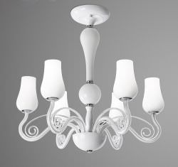 Ceiling chandelier with 6 lights