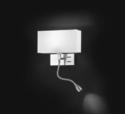 Double light wall light with adjustable LEDs