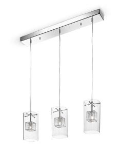 Pendant lamp 3 Glass diffusers