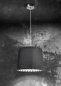 Suspension with fabric lampshade