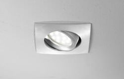 Adjustable square recessed spotlight
