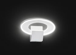 LED Wall Light White Metal and Acrylic