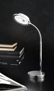 Lampe de table LED Chrome brillant