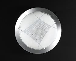 LED ceiling light 40 cm glass with crystals
