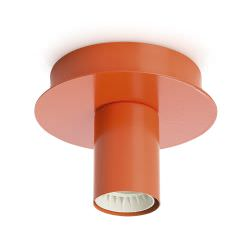 Metal ceiling light Orange color