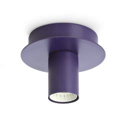Metal ceiling light in Violet colour