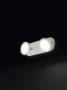 Wall light with 2 LED lights of 6W 3000K