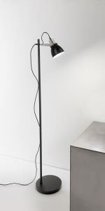 Floor lamp Metal Black and Chrome