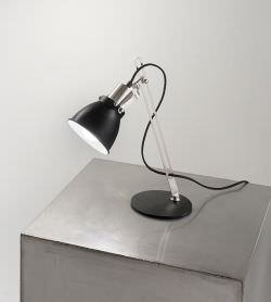 Table lamp Metal Black and Chrome