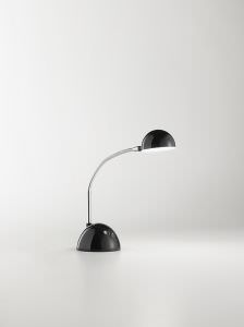 Black desk lamp with LED light