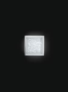 24W LED ceiling light in decorated glass