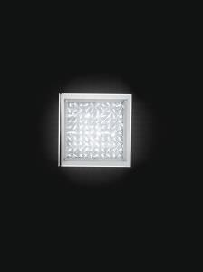 36W LED ceiling light in decorated glass
