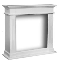 Fireplace Frame Elda white MDF wood