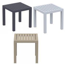 Tavoli Da Giardino In Resina Prezzi.Tavolino Da Giardino Quadrato In Resina In Colori A Scelta