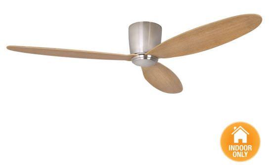 Ventilator ohne Licht Chrom und Teakholz
