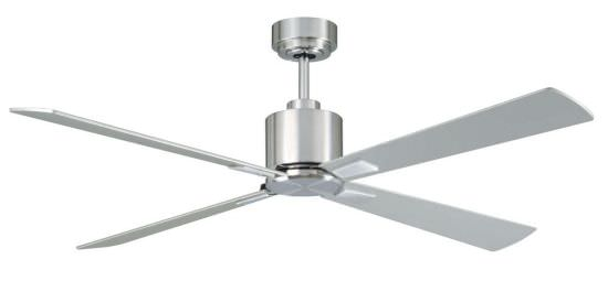 Ceiling Fan with DC Motor Chrome Silver