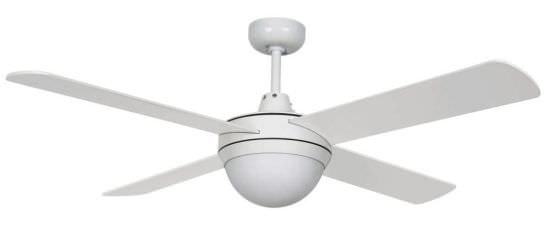 Ventilatore 4 Pale con Luce Bianco
