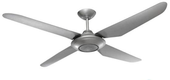 Ventilatore argento per grandi ambienti