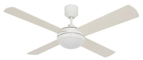 Ventilatore a soffitto e luce led bianco