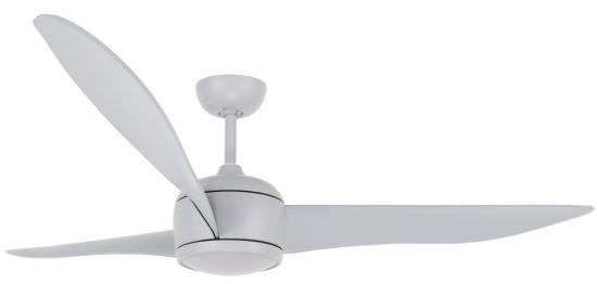 Ventilatore DC senza luce colore grigio
